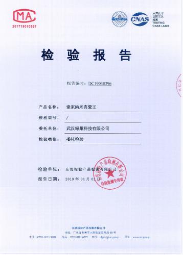 上海壹家纳米真瓷王检验报告